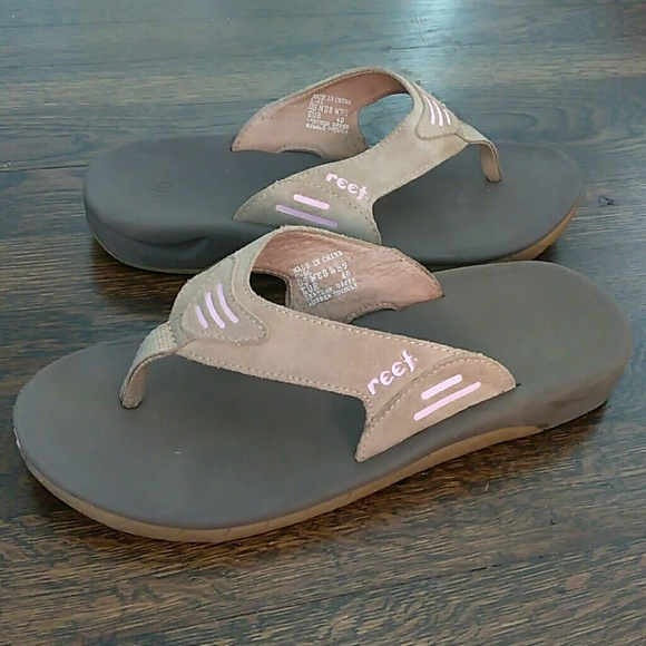 8add2b1635f5 Reef ortho spring thong leather flip flops size 9.  M 5cb51369abe1cedbd1985eeb